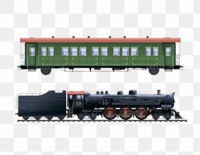 Train - Train Passenger Car Rail Transport Steam Locomotive PNG