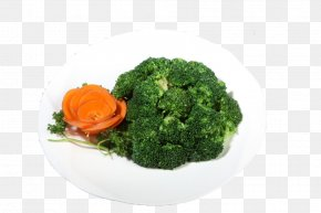 Broccoli And Carved - Broccoli Cauliflower Vegetable Vegetarian Cuisine PNG