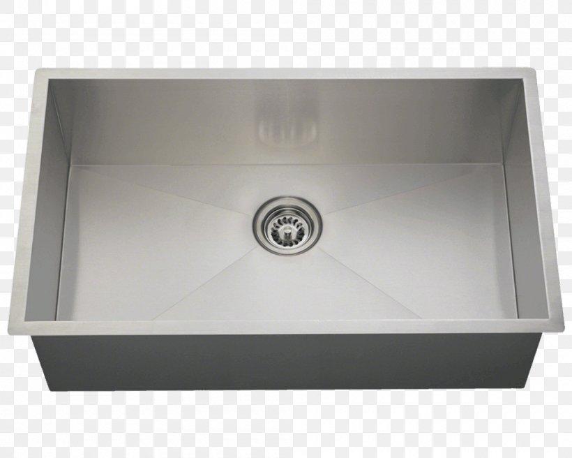 Kitchen Sink Stainless Steel Brushed Metal, PNG, 1000x800px, Sink, Architectural Engineering, Bathroom, Bathroom Sink, Bowl Download Free