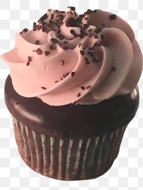 Chocolate Cake - Cupcake Chocolate Cake Ganache Chocolate Truffle Muffin PNG