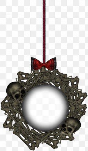 Skull - Picture Frame Ornament Skull Image PNG