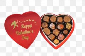 Chocolate - Chocolate Truffle Valentine's Day Chocolate Box Art Heart PNG