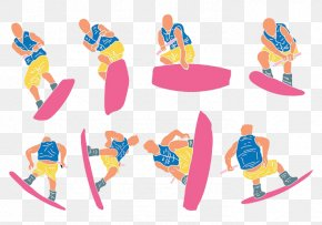 Pink Sports Surfing Shorts - Euclidean Vector Vector Packs Illustration PNG