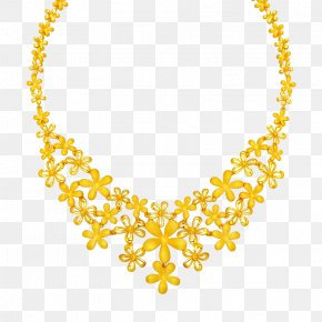 Gold Necklace - Necklace Gold Jewellery Fashion Accessory Earring PNG