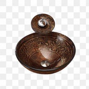 Antique Round Sink - Sink Bateria Wodociu0105gowa Glass U6d17u8138 Plumbing Fixture PNG