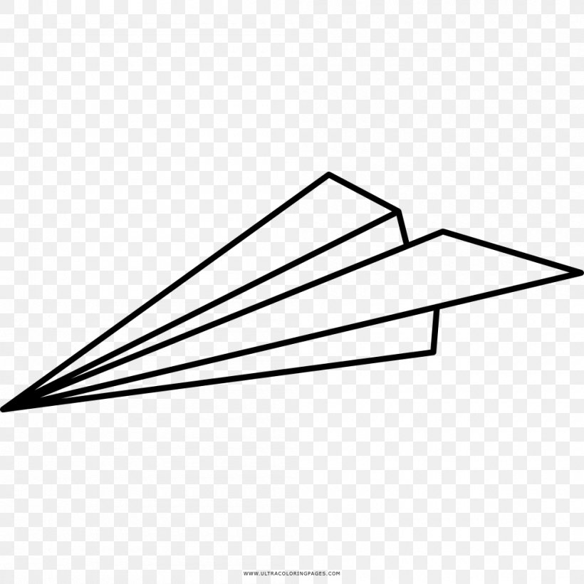 Airplane Paper Plane Coloring Book Drawing Png 1000x1000px