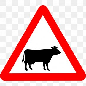 Cattle Images - Cattle The Highway Code Traffic Sign Road Warning Sign PNG