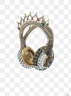 Crown Diamond Headphones PNG
