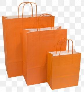 Orange - Shopping Bags & Trolleys Paper Bag Gunny Sack Kraft Paper PNG