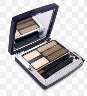 Multi-grid Powder Makeup Box - Eyebrow Make-up Eye Shadow Powder Cosmetics PNG