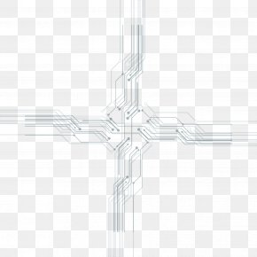 Science And Technology Lines - Line Black And White Symmetry Pattern PNG