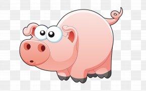 Pig - Miniature Pig Shower Curtain Douchegordijn PNG
