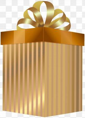 Gold Gift Box Transparent Clip Art - Box Clip Art PNG