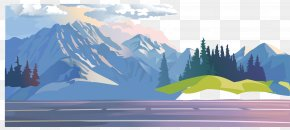 Blue Sky Under The Highway Mountain Forest - Forest Stock Illustration Clip Art PNG
