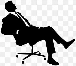 Sitting Man - Black White People Clip Art PNG