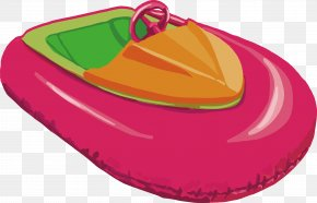 Cartoon Yacht Design - Inflatable Boat Yacht PNG
