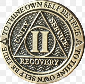 Coin - Sobriety Coin Alcoholics Anonymous Bronze Medal PNG
