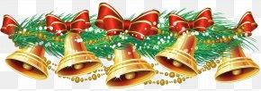 Christmas Golden Bells - Christmas Jingle Bell Clip Art PNG