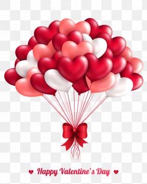 Vector Cartoon Balloon - Valentines Day Heart Greeting Card Balloon PNG