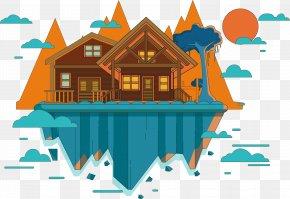 Cartoon Vector City Of The Sky - Euclidean Vector Adobe Illustrator PNG