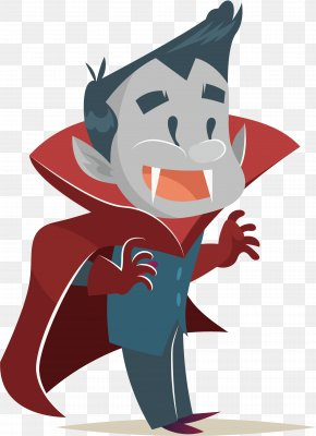 Happy Vampire - Cartoon Animation Halloween Illustration PNG