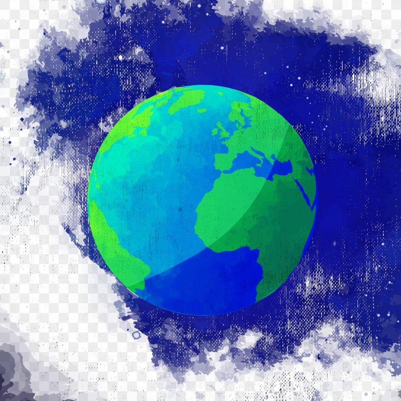 Earth Watercolor Painting, PNG, 2100x2100px, Earth, Atmosphere, Globe, Green, Microsoft Azure Download Free