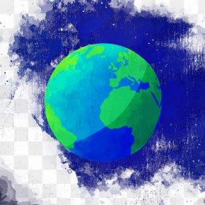 Vector Watercolor Earth Sky Background Painting - Earth Watercolor Painting PNG