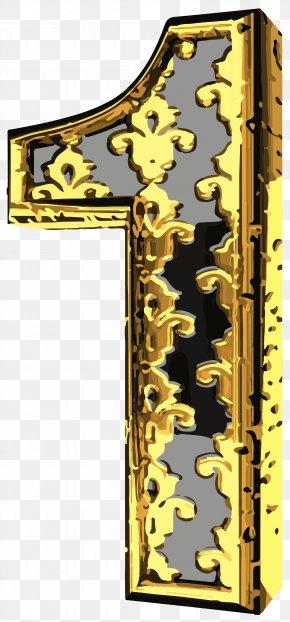 Elegant Vintage Number One Clip Art Image - Vintage Clothing Clip Art PNG
