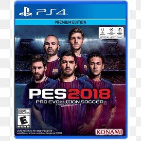 Playstation - Pro Evolution Soccer 2018 Pro Evolution Soccer 2015 PlayStation 4 Video Game PNG