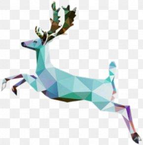 Deer - Reindeer Watercolor Painting Drawing PNG