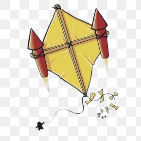 Rocket Kite - Cartoon Illustration PNG