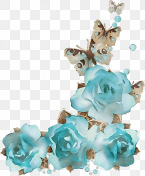Jewellery Cut Flowers - Aqua Blue Turquoise Teal Turquoise PNG
