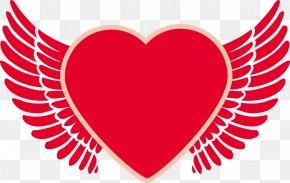 Cartoon Heart Angel Wings PNG