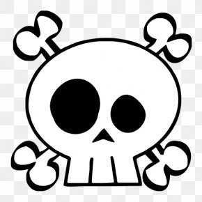 Skull - Calavera Skull And Crossbones Clip Art PNG