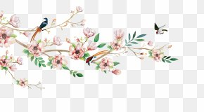 Vector Flowers And Birds - Euclidean Vector Flower Watercolor Painting Illustration PNG
