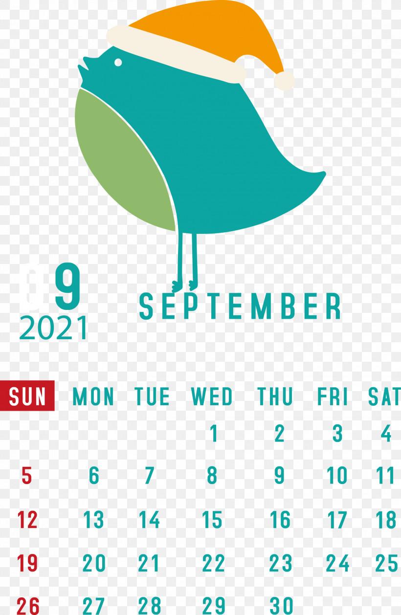 September 2021 Printable Calendar September 2021 Calendar, PNG, 1955x3000px, September 2021 Printable Calendar, Aqua M, Geometry, Green, Line Download Free