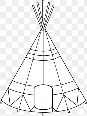Tipi - Tipi Native Americans In The United States Coloring Book Drawing Clip Art PNG