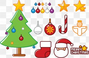 Various Christmas Decorative Elements Vector - Euclidean Vector Christmas Tree Element PNG