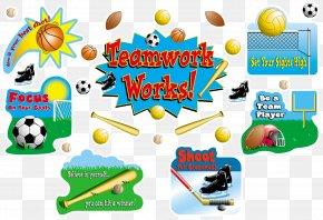 Teamwork Theme - Classroom Bulletin Board Sport Education Teacher PNG