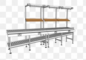 Table - Manufacturing Production Line Table Machine Lineshaft Roller Conveyor PNG
