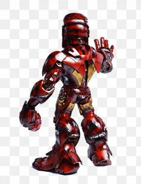The Iron Man Standing - The Iron Man Cartoon Superhero PNG