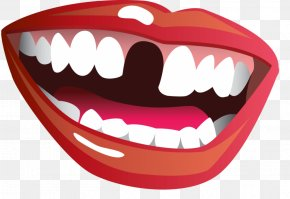 Smile Mouth - Tooth Loss Mouth Smile Clip Art PNG