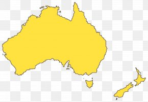 Australia Map File - Australia Blank Map Yellow Area PNG