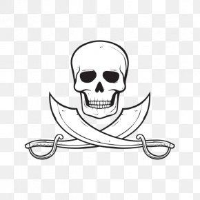 Skull - Calavera Piracy Jolly Roger Skull Clip Art PNG