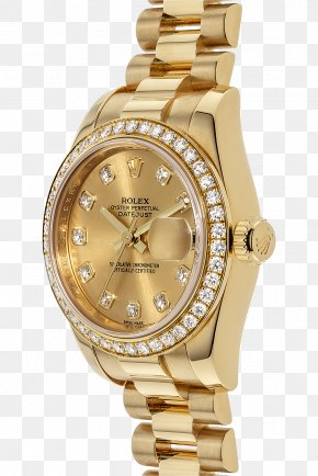 Rolex - Rolex Datejust Watch Colored Gold Jewellery PNG