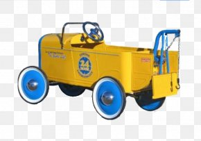 Yellow Vintage Car - Model Car Toy Child Vintage Car PNG