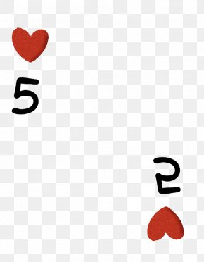 Hearts 5 - Red Valentine's Day French Playing Cards PNG