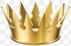 Golden Crown Transparent Clip Art Image - Crown Clip Art PNG