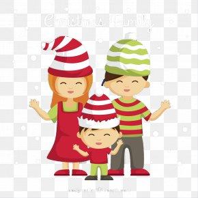Christmas Family Vector Material - Christmas Family Euclidean Vector PNG