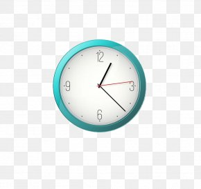 Clock - Clock Turquoise Circle PNG